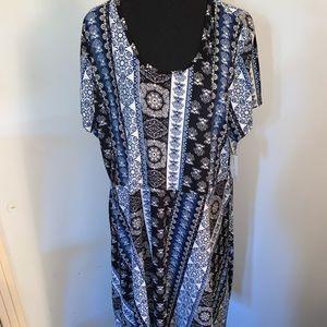 Plus Size Bobbie Brooks Midi Dress